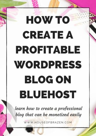 How to Create A Profitable WordPress Blog Through Bluehost